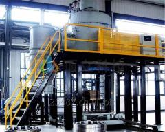 Vertical Bottom Loading Vacuum Annealing Furnace
