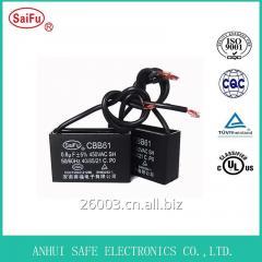 Cbb61 Вентилятор конденсатора с проволокой для