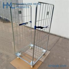 2 sides folding wire mesh roll cage with belt
