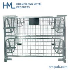 Stacking warehouse powder coated wire mesh pallet