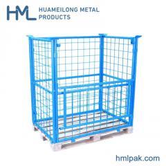 Steel metal galvanized industrial wire mesh pallet