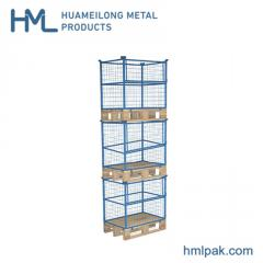QT-9 Industrial stackable steel wire mesh pallet