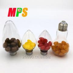 В банке колбы лампы многоцветной клейкий конфеты