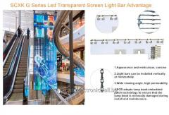 Серия G прозрачный светодиодный дисплей G15.64,