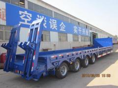 4 axles low bed semi trailer for loading machinery