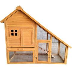 Wooden hen or rabbit cage, chicken hutch, poultry