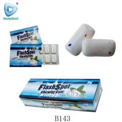 Blister packing mint chewing bubble gum