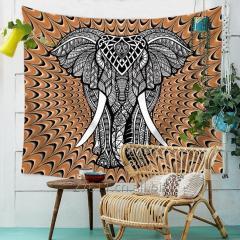 Слон гобелен цветных печатных декоративные Мандала