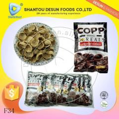 Chocolate flavour cereal chips snack