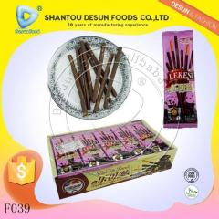 Good taste coated chocolate stick biscuit
