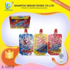 Ice cream flavour CICI bag pack liquid fruit jam