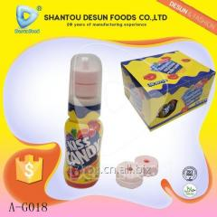 Best selling kiss candy fruit jam with press candy