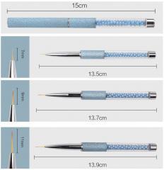 Новая картина размеров кисти 3 гель для ногтей