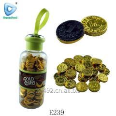 Золотая монета шоколад в банке