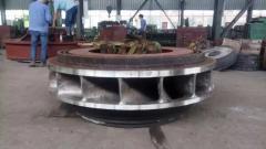 Рабочее колесо радиально-осевой для гидротурбины