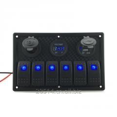 Led rocker switch panel For 12V 24V Car Boat