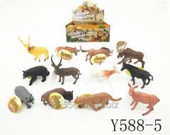 Hot mini plastic animal TPR figure promotional