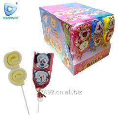 China roll shape marshmallow lollipop candy