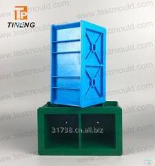 Синая и зелёная 100 мм двухбалочная форма куб для