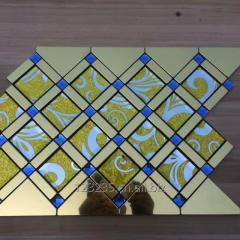 495x395 Glass mosaic tile Metal mosaic tile