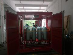 Container skid hydraulic control panel