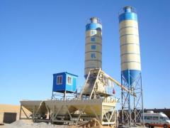 Stationary concrete batching plant is 25 cubic