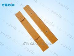 Steam turbine parts slot wedge Corrugated strip