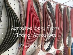 Aluminium oxide abrasive belt