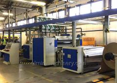 Single facer corrugated cardboard production