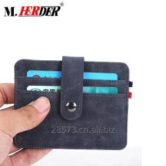 PU Leather RFID Blocking Slim Credit Card Case