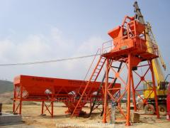 Hzs35 stationary concrete plant in Tashkent in