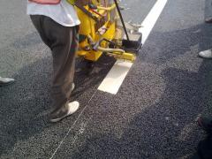 Pavement hot melt road marking machine / thermoplastic line striping machine