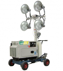 Trailer and Hand Push Telescopic Light Tower