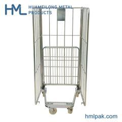 BY-07 Складной стальной ролл контейнер тележка для