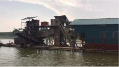 Bucket Sand and Gold mining Dredging Ship