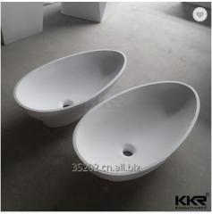 Wash basin sink oval countertop basin, man made