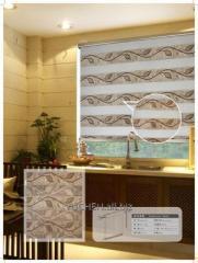 Жалюзи шторы ткань зебра