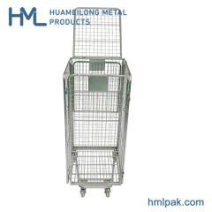 Roll container de seguridad de malla de alambre