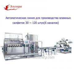 Full Auto 30~120pcs Wet Wipe Machine(Six Lanes)