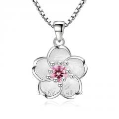 925 pure Silver handmade flower pendant jewelry