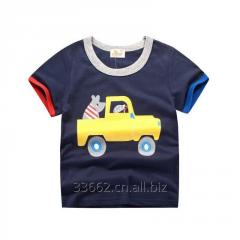 Детская хлопковая футболка с коротким рукавом для