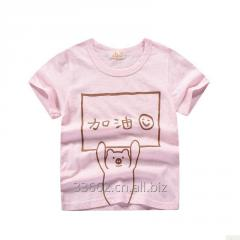 Детская хлопковая футболка с принтом