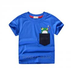Детская хлопковая футболка с цветным принтом для