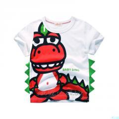 Детская хлопковая футболка с ярким принтом