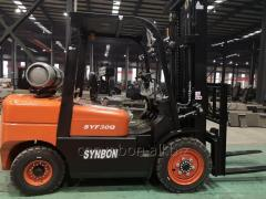 LPG Gasoline Dual Fuel Forklift Diesel 3ton Fork Lift (SYF30Q) on Sale