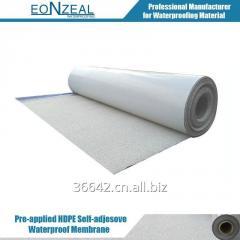 HDPE self adhesive waterproof membrane with sand