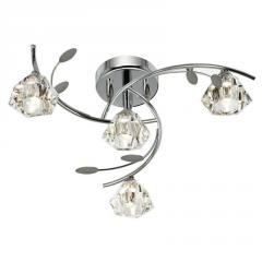 Diamond Shaped Ceiling Lamp Wrought Iron Crystal