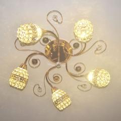 Led ceiling lamp crystal round bedroom living room