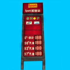 Electronic displays for gas stations