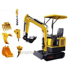 SYNBON SY601.0 Chineses Mini Excavator 1ton micro Small Digger with Rubber Track for garden construction